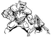 Football Bear Mascot Decal / Sticker 14