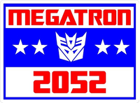Vote Megatron Political Decal / Sticker 01