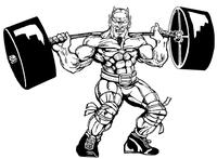 Weightlifting Devils Mascot Decal / Sticker 7