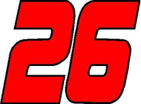 26 Race Number 2 Color Decal / Sticker