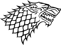 Game of Thrones House Stark Decal / Sticker 01