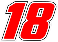 18 Race Number Decal / Sticker e