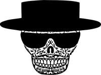 Breaking Bad Heisenberg (Walter White) Skull Decal / Sticker 28