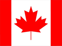Canadian Flag Decal / Sticker 05