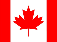 Canada Flag Decal / Sticker 04