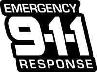 Emergency Response 911 Decal / Sticker 04