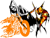 Grim Reaper Decals and Stickers