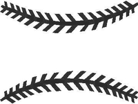 Baseball Stitches 2 Decal / Sticker