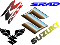 Suzuki Decals and Suzuki Stickers
