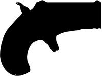 Derringer Gun Decal / Sticker