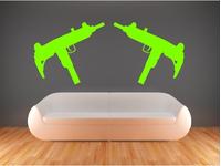 GUN WALL DECALS and GUN WALL STICKERS