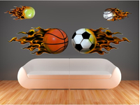 SPORTS WALL DECALS and SPORTS WALL STICKERS and STICKERS