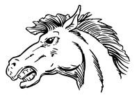 Horse Mascot Head Decal / Sticker 3