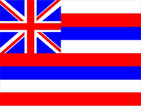 Hawaii State Flag Decal / Sticker 02
