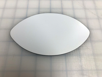 Matte White 6x3.5 Inch Football Shaped Magnet Blank