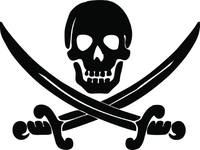 Jolly Roger Flag Decal / Sticker 26