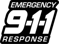Emergency Response 911 Decal / Sticker 03