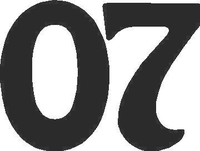 07 Race Number Homeward Bound Font Decal / Sticker
