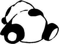 Panda Bear Decal / Sticker 03