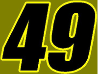 49 Race Number 2 COLOR Decal / Sticker