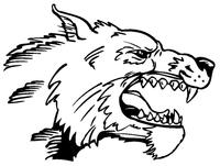 Huskies Mascot Decal / Sticker 3