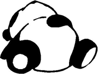 Panda Bear Heart Decal / Sticker 04