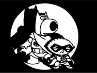 Brian and Stewie Griffin Batman and Robin Decal / Sticker 03