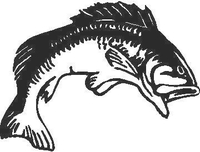 Bass 02 Fish Decal / Sticker