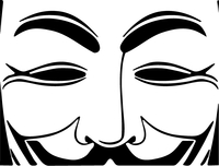 V For Vendetta Anonymous Decal / Sticker 08