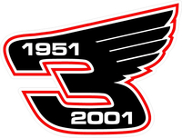 3 Race Number  Decal / Sticker