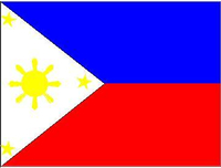 Filipino Flag Decal / Sticker 01