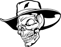 Cowboys Skull Mascot Decal / Sticker