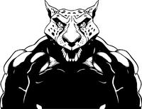 Wrestling Jaguars Mascot Decal / Sticker