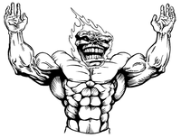 Weightlifting Comets Mascot Decal / Sticker 1