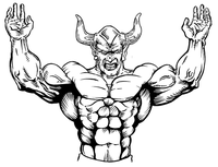 Weightlifting Devils Mascot Decal / Sticker 1