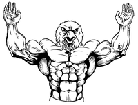 Weightlifting Eagles Mascot Decal / Sticker 1