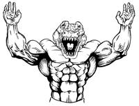 Weightlifting Gators Mascot Decal / Sticker 1
