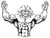 Weightlifting Patriots Mascot Decal / Sticker 1