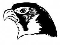 CUSTOM HAWKS MASCOT DECALS AND HAWKS MASCOT STICKERS