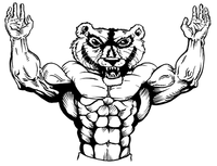 Weightlifting Wolverines / Badgers Mascot Decal / Sticker 1