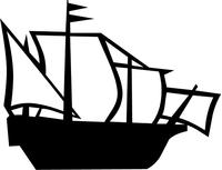 Mayflower Ship Decal / Sticker 02