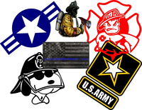 Fireman Military Decals & Stickers