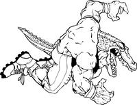 Football Gators Mascot Decal / Sticker