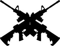 M-4 Guns Crossed Decal / Sticker