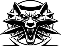 The Witcher Wolf Decal / Sticker 05