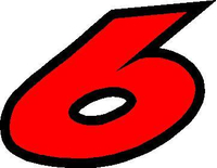 6 Race Number 2 COLOR Decal / Sticker