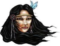 Indian Woman Decal / Sticker 01