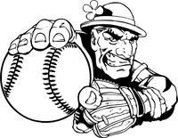 Fighting Irish Baseball Mascot Decal / Sticker