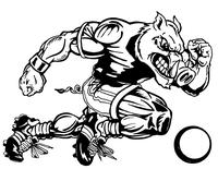 Razorbacks Soccer Mascot Decal / Sticker