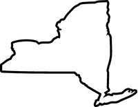 New York State Decal / Sticker 02